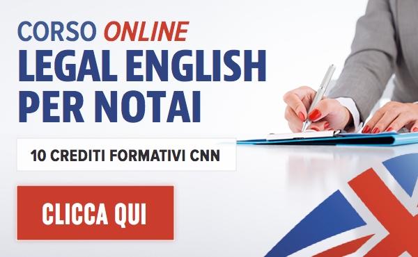 Corso online Legal English per Notai